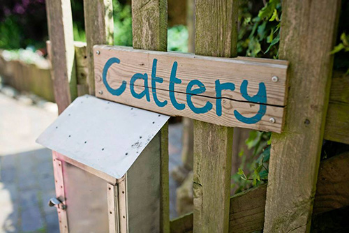 Cattery Sign at Mobberley Cottage