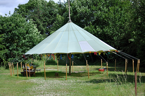 Gazebo at Mobberley Cottage Cattery