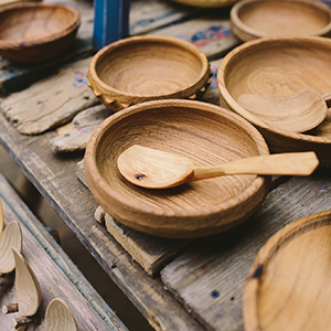 Hand Carved Wooden Bowls And Spoons Mobberley Cottage Cattery